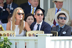CHRISTIAN & EMILY CANDY at The Royal Salute Coronation Cup Polo held at Guards Polo Club,  Smiths Lawn, Windsor Great Park, Egham on 23rd July 2016.