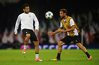 Daniel Alves and Claudio Marchisio of Juventus<br /> <br /> Photographer Kevin Barnes/CameraSport<br /> <br /> UEFA Champions League Final - Training session - Juventus v Real Madrid - Friday 2nd June 2017 - Principality Stadium - Cardiff<br />  <br /> World Copyright © 2017 CameraSport. All rights reserved. 43 Linden Ave. Countesthorpe. Leicester. England. LE8 5PG - Tel: +44 (0) 116 277 4147 - admin@camerasport.com - www.camerasport.com