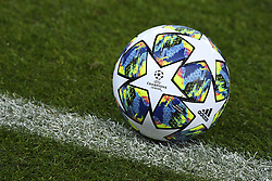 November 26, 2019, Genk, UNITED KINGDOM: Illustration picture shows the official Adidas Finale 19 Champions League match ball during a training session of Austrian club RB Salzburg, Tuesday 26 November 2019 in Genk, in preparation of tomorrow's match against Belgian soccer team KRC Genk in the group stage of the UEFA Champions League. BELGA PHOTO YORICK JANSENS (Credit Image: © Yorick Jansens/Belga via ZUMA Press)
