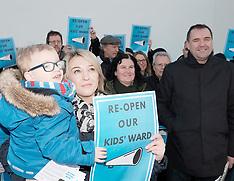 St John's Children's Ward Protest | Livingston | 19 January 2018