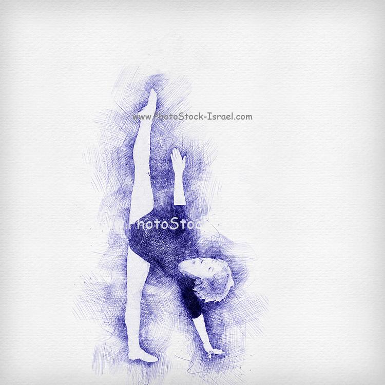 Digitally enhanced image of a Female Contemporary Dancer
