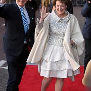 NLD/Amsterdam/20080201 - Verjaardagsfeest Koninging Beatrix en prinses Margriet, margriet en partner Mr.PIeter van Vollenhoven