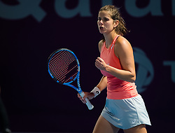 February 13, 2019 - Doha, QATAR - Julia Goerges of Germany in action during the second round at the 2019 Qatar Total Open WTA Premier tennis tournament (Credit Image: © AFP7 via ZUMA Wire)