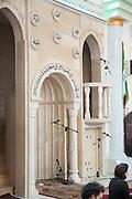 Pulpit at Nuzha Mosque (built 1937) In Jerusalem Boulevard, Jaffa, Israel