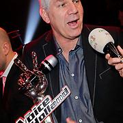 NLD/Hilversum/20120120 - Finale the Voice of Holland 2012, vader van winnares Iris Kroes