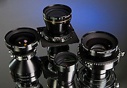 A trio of Nikkor large format lenses