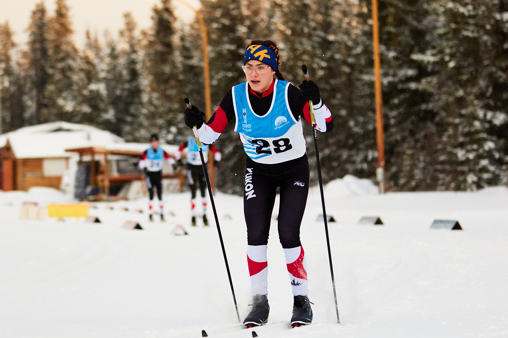 Sophia Giangrande (U16 Girl) skis during the 2020 Don Sumanik Ski Race (classic style) at the Mount McIntyre Recreation Centre, December 6, 2020.