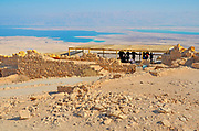 Israel, Masada Tourists visiting the site