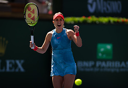 March 14, 2019 - Indian Wells, USA - Belinda Bencic of Switzerland in action during her quarter-final match at the 2019 BNP Paribas Open WTA Premier Mandatory tennis tournament (Credit Image: © AFP7 via ZUMA Wire)