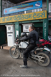 Kiwi Mike Tomas on day-9 of our Himalayan Heroes adventure riding from Pokhara to Nuwakot, Nepal. Wednesday, November 14, 2018. Photography ©2018 Michael Lichter.
