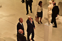 September 6, 2017 - Athens, Attiki, Greece - Dimitrios Pantermalis, Director of the Museum (left),Marcelo Nuno Duarte Rebelo de Sousa, President of Portugal (centre) and Prokopis Pavlopoulos, President of Hellenic Republic (right) during their visit in Acropolis Museum. (Credit Image: © Dimitrios Karvountzis/Pacific Press via ZUMA Wire)