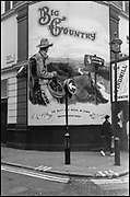 """Soho, West End, London, Show Poster, """"Big Country"""". Corner of Archer Street and Great Windmill Street [Soho] London W1D 7JZ"""