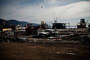 Destruction by the tsunami in Talcahuano, Chile, March 5, 2010.