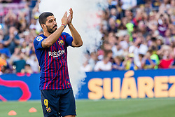 August 15, 2018 - Luis Suarez from Uruguay during the Joan Gamper trophy game between FC Barcelona and CA Boca Juniors in Camp Nou Stadium at Barcelona, on 15 of August of 2018, Spain. (Credit Image: © AFP7 via ZUMA Wire)