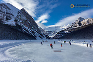 Hocky rink on Lake Louise in Banff National Park, Alberta, Canada