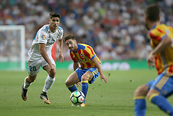 August 27, 2017 - Madrid, Spain - Maro Asensio. LaLiga Santander matchday 2 between Real Madrid and Valencia. The final score was 2-2, Marco Asensio scored twice for Real Madrid. Carlos Soler and Kondogbia did it for Valencia. Santiago Bernabeu Stadium, august 27, 2017. Photo by  (Credit Image: © |Antonio Pozo |  Media Expre/VW Pics via ZUMA Wire)