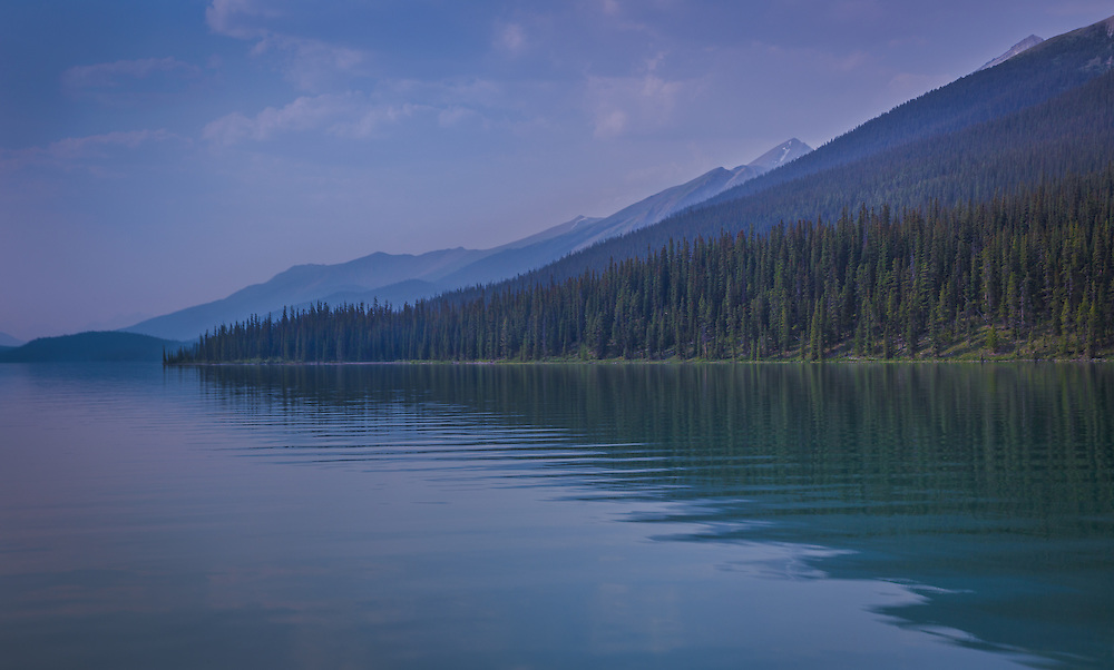 A moment of stillness and serenity at Maligne Lake in Canada's Jasper National Park.