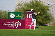Jinho Choi (KOR) on the 18th during Round 1 of the Commercial Bank Qatar Masters 2020 at the Education City Golf Club, Doha, Qatar . 05/03/2020<br /> Picture: Golffile   Thos Caffrey<br /> <br /> <br /> All photo usage must carry mandatory copyright credit (© Golffile   Thos Caffrey)