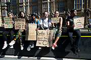 People of all ages gather for the Global Climate Strike organised by UK Student Climate Network on 20th September 2019 in London, United Kingdom. The School strike for climate, also known as Fridays for Future, Youth for Climate and Youth Strike 4 Climate, is an international movement of school students who are deciding not to attend classes and instead take part in demonstrations to demand action to prevent further global warming and climate change. UK Student Climate Network is calling on everyone - adults, workers, community groups, trade unionists, nurses, teachers, steel workers, car manufacturers, waiters and everyone else in between to join them in a global general climate strike. This protest will join people all around the world in a massive day of climate action.