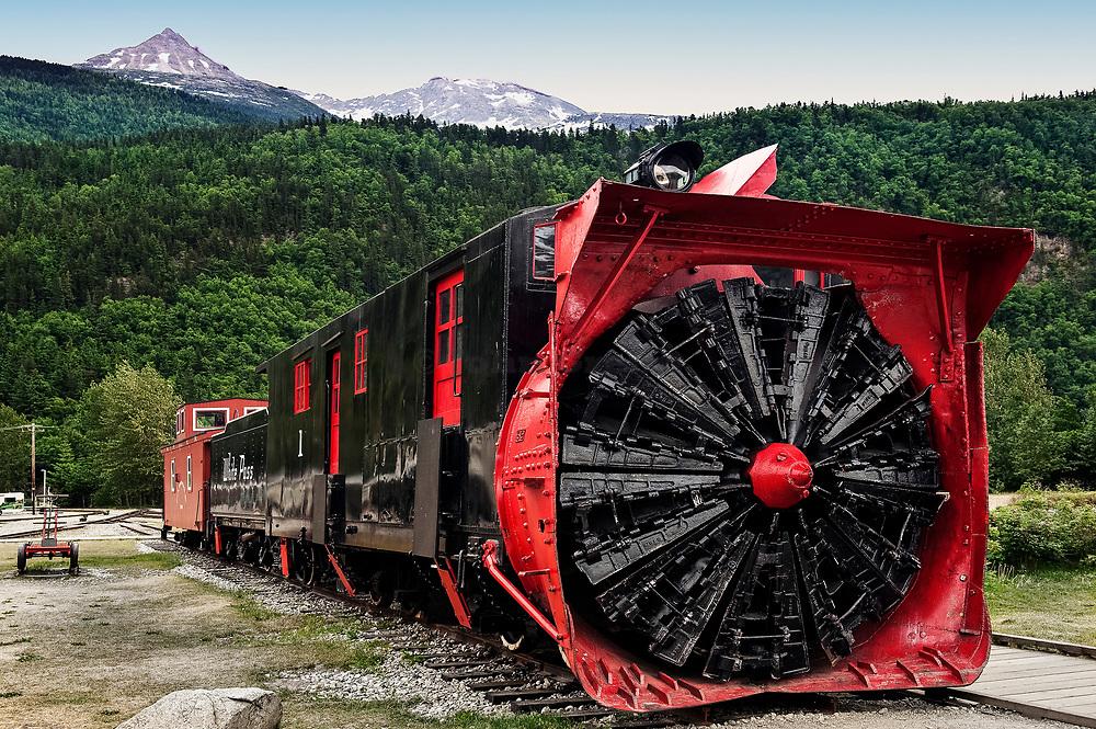 Snow removal train car of the White Pass & Yukon Route, Skagway, Alaska, USA