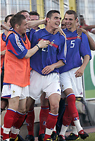 FOOTBALL - UNDER 21 TOULON TOURNAMENT 2005 - FINAL - FRANCE v PORTUGAL - 10/06/2005 - FRENCH JOY AFTER THE NICOLAS FAUVERGUE 'S GOAL - PHOTO PHILIPPE LAURENSON / DIGITALSPORT<br />