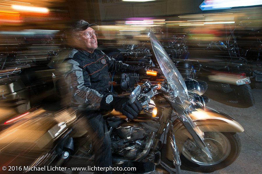 Main Street during the annual Sturgis Black Hills Motorcycle Rally.  SD, USA.  August 8, 2016.  Photography ©2016 Michael Lichter.