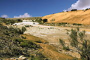 Flash flood in a desert river Tzin, south Israel
