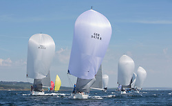 Sailing - SCOTLAND  - 25th-28th May 2018<br /> <br /> The Scottish Series 2018, organised by the  Clyde Cruising Club, <br /> <br /> First days racing on Loch Fyne.<br /> <br /> RC35 Fleet, downwind, GBR9470R, Banshee, Charlie Frize, CCC, Corby 33.<br /> <br /> Credit : Marc Turner<br /> <br /> <br /> Event is supported by Helly Hansen, Luddon, Silvers Marine, Tunnocks, Hempel and Argyll & Bute Council along with Bowmore, The Botanist and The Botanist