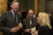Lord de Ramsay, Peter Macnally and Baroness Mallelieu. The Spencer House draw in aid of the Countryside Alliance. 28 November 2000. © Copyright Photograph by Dafydd Jones 66 Stockwell Park Rd. London SW9 0DA Tel 020 7733 0108 www.dafjones.com