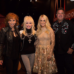 """Carrie Underwood releases a photo on Instagram with the following caption: """"Ok, just one more pic...\u2764\ufe0f\u2764\ufe0f @reba @dollyparton @vincegillofficial at the @opry celebrating Reba's 40th anniversary of her first Opry performance! Pretty sure we're all besties now."""". Photo Credit: Instagram *** No USA Distribution *** For Editorial Use Only *** Not to be Published in Books or Photo Books ***  Please note: Fees charged by the agency are for the agency's services only, and do not, nor are they intended to, convey to the user any ownership of Copyright or License in the material. The agency does not claim any ownership including but not limited to Copyright or License in the attached material. By publishing this material you expressly agree to indemnify and to hold the agency and its directors, shareholders and employees harmless from any loss, claims, damages, demands, expenses (including legal fees), or any causes of action or allegation against the agency arising out of or connected in any way with publication of the material."""