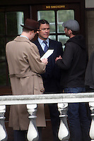 """DOMINIC WEST OF  HBO'S """"THE WIRE""""  ON SET IN LONDON SHOOTING  """"THE MOULD IN DR FLOREYS COAT""""  THE STORY OF THE PENICILLIN MIRICLE  BBC DRAMA  PICS JACK LUDLAM High Quality Prints please enquire via contact Page. Rights Managed Downloads available for Press and Media"""