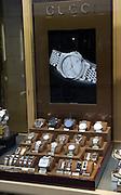 Gucci watches shop window display