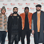 Rudimental prepare to take the stage at Westfield London 10th-year anniversary birthday celebrations on 30 October 2018, London, UK.