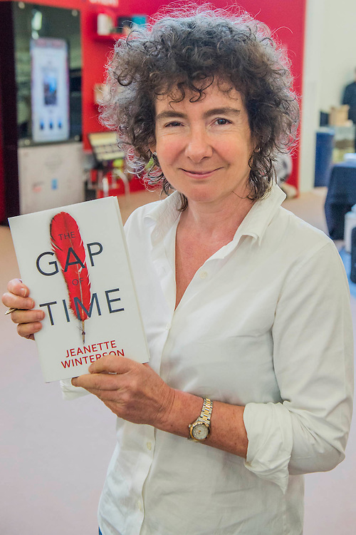 Jeanette Winterson launching her new book, The Gap of Time (part of a retelling Shakespear series) - The London Book Fair, celebrating its 45 year anniversary, is the global marketplace for rights negotiation and the sale and distribution of content across print, audio, TV, film and digital channels. Staged annually, LBF sees more than 25,000 publishing professionals arrive in London for the week of the show to learn, network and kick off their year of business. The London Book Fair sits at the heart of London Book & Screen Week, and runs from the 12-14 April 2016.