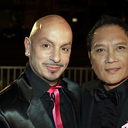 NLD/Amsterdam/20080929 - Pink Ribbon gala 2008, Lonny Gerungan en partner Warren Bright