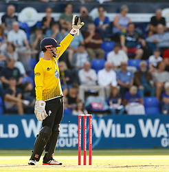 Gloucestershire's Gareth Roderick in action today <br /> <br /> Photographer Simon King/Replay Images<br /> <br /> Vitality Blast T20 - Round 8 - Glamorgan v Gloucestershire - Friday 3rd August 2018 - Sophia Gardens - Cardiff<br /> <br /> World Copyright © Replay Images . All rights reserved. info@replayimages.co.uk - http://replayimages.co.uk