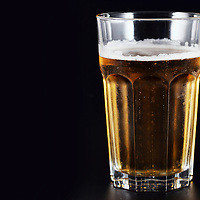 Beer on a black background