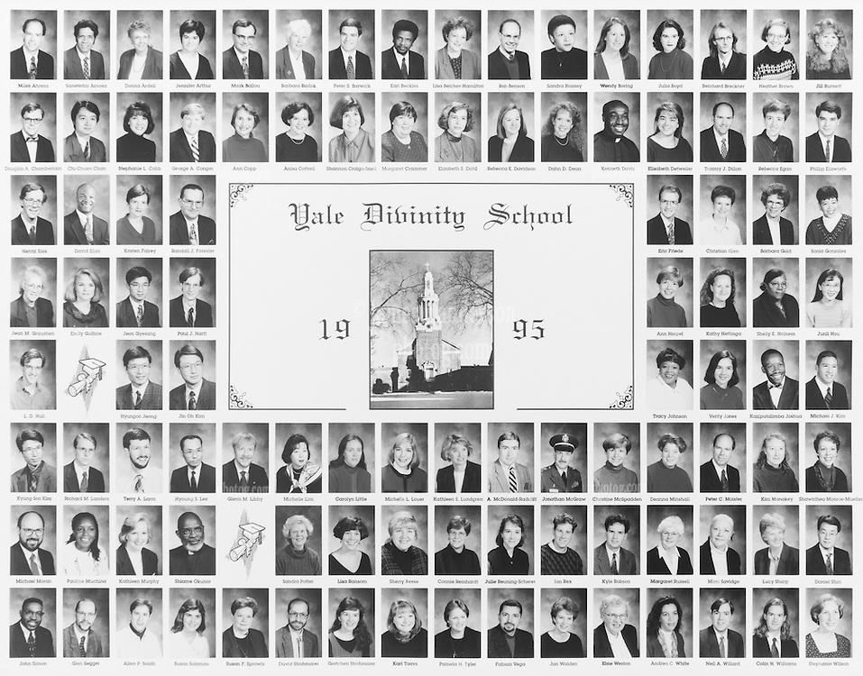 1995 Yale Divinity School Senior Portrait Class Group Photograph