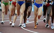 Aug 29, 2007; Osaka, JAPAN; Closeup of spikes during womens 1,500m heat in the 11th IAAF World Championships at Nagai Stadium.