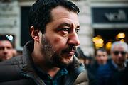 """Matteo Salvini, leader del partito Lega North durante la manifestazione """"Italia Sovrana"""". Roma 28 Gennaio 2017. Christian Mantuano / OneShot<br /> <br /> Leader of Lega Nord Party Matteo Salvini during demonstration 'Italia sovrana', (Italy Sovereign) on January 28, 2017 in Rome, Italy, Rome 28 January 2017 . Christian Mantuano / OneShot"""