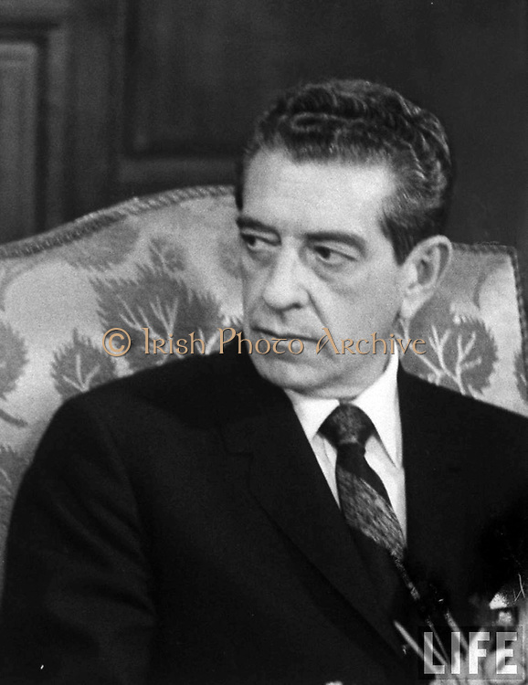 Adolfo Lopez Mateos (26 May 1909 – 22 September 1969) was a Mexican politician affiliated to the Institutional Revolutionary Party (PRI) who served as President of Mexico from 1958 to 1964. As president, he nationalized electric companies, created the National Commission for Free Textbooks (1959) and promoted the creation of prominent museums