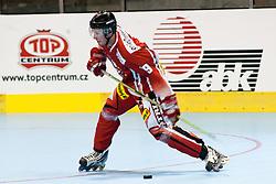 Gregor Baumgartner of Austria at IIHF In-Line Hockey World Championships 2011 Division 1 quarter final match between National teams of Austria and New Zeland on June 23, 2011, in Pardubice, Czech Republic. (Photo by Matic Klansek Velej / Sportida)
