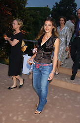 FRANCESCA VERSACE at a summer party hosted by champagne house Krug held at Debbenham House, 8 Addison Road, London on 28th June 2005.<br /><br />NON EXCLUSIVE - WORLD RIGHTS