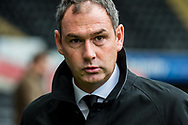 Manager of Swansea City, Paul Clement arrives at the stadium. Premier league match, Swansea city v Leicester city at the Liberty Stadium in Swansea, South Wales on Saturday 21st October 2017.<br /> pic by Aled Llywelyn, Andrew Orchard sports photography.