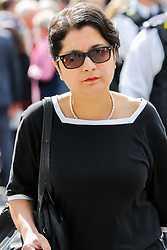 © Licensed to London News Pictures. 10/09/2019. London, UK. Sharmi Chakrabarti departs from Westminster Abbey in London after attending a memorial service for Lord Paddy Ashdown. Lord Ashdown became the leader of the newly formed Liberal Democrats created by the merger of the Liberal Party and the Social Democratic Party in 1988, a position he held for 11 years before standing down in 1999. Photo credit: Dinendra Haria/LNP