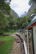 Inca Rail, train ride, Sacred Valley; Cusco Region; Urubamba Province; Machupicchu District; Peru