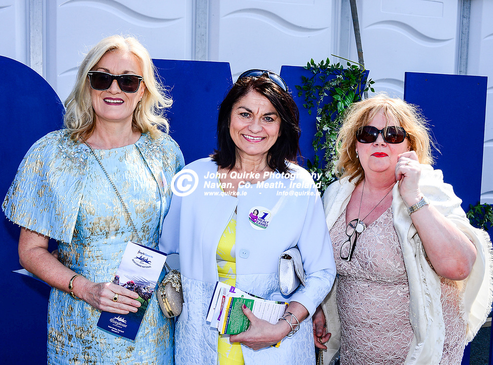 Pictured at 'The Fairyhouse Easter Festival' were from left: colr. Sharon Keogan, MEP candidate, Fidelma Helay Eames and Eithne McGroary, Curraha.<br /> <br /> Photo: GERRY SHANAHAN-WWW.QUIRKE.IE<br /> <br /> 22-04-2019