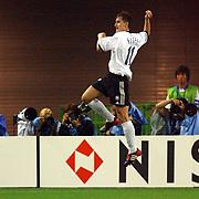 Germany's Miroslav Klose celebrates scoring their second goal
