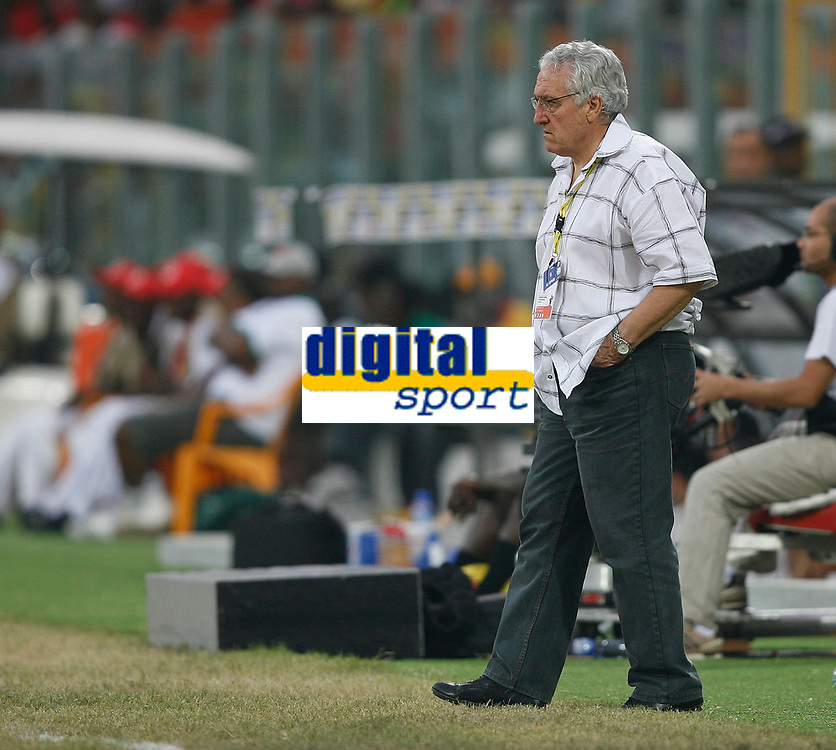 Photo: Steve Bond/Richard Lane Photography.<br />Guinea v Morocco. Africa Cup of Nations. 24/01/2008. Guinea coach Philip Nouzaret watches