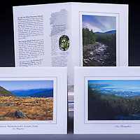 This collection of six cards includes two each of: Mount Washington's Alpine Zone, Winter in the Whites, and the Pemigewasset River in the White Mountain National Forest.<br />